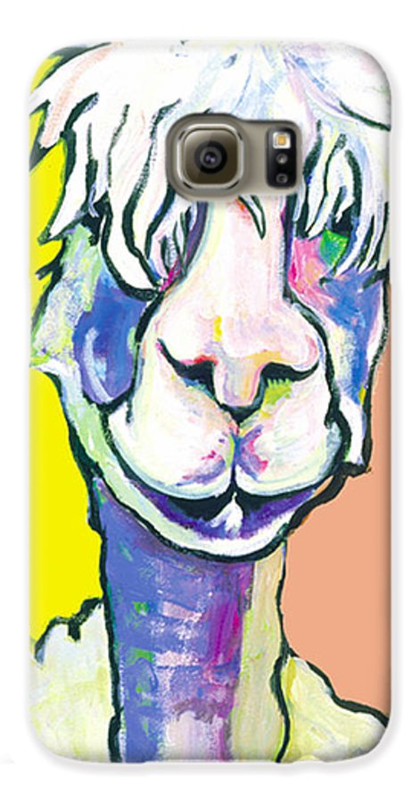 Mountain Animal Galaxy S6 Case featuring the painting Veronica by Pat Saunders-White