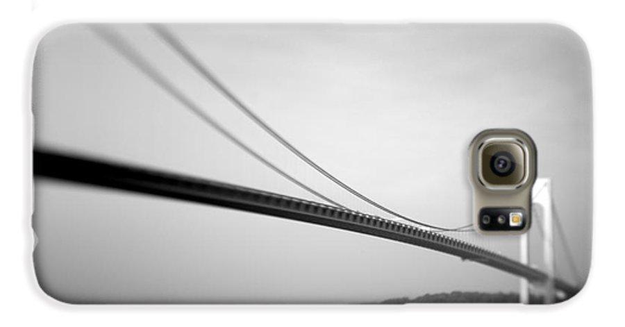 Black & White Galaxy S6 Case featuring the photograph Verrazano Bridge 2 by Tony Cordoza