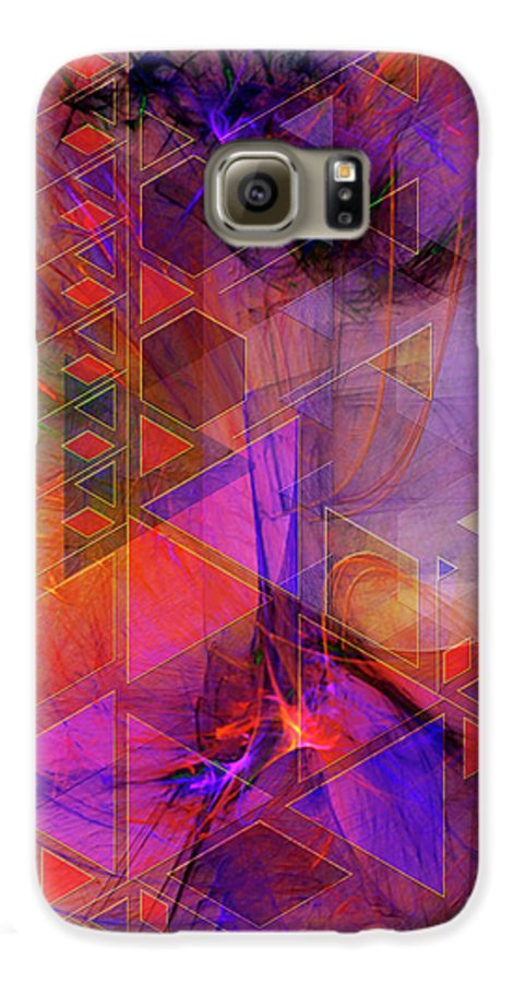 Vibrant Echoes Galaxy S6 Case featuring the digital art Vibrant Echoes by John Beck