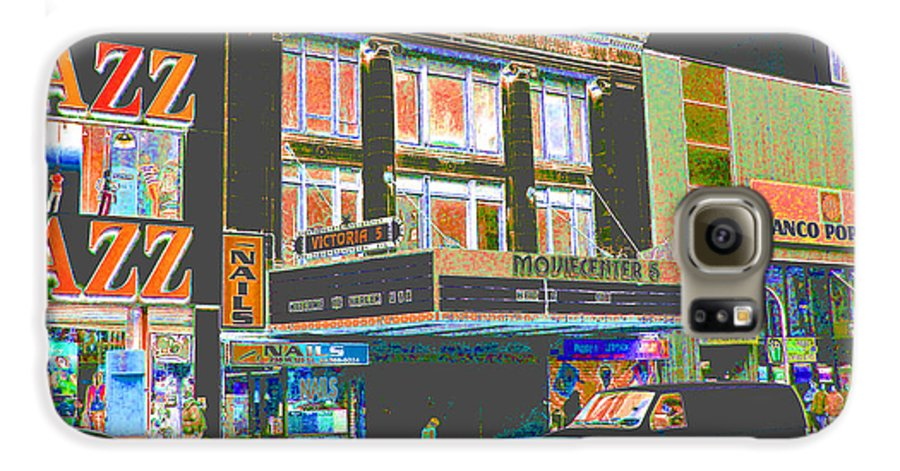 Harlem Galaxy S6 Case featuring the photograph Victoria Theater 125th St Nyc by Steven Huszar