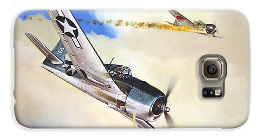 Military Galaxy S6 Case featuring the painting Victory For Vraciu by Marc Stewart