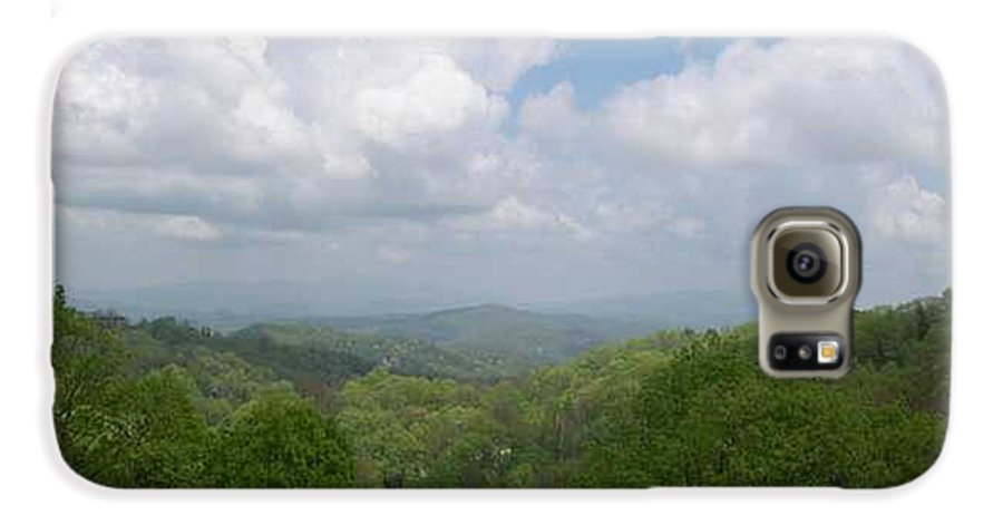 Mountains Galaxy S6 Case featuring the photograph View From Ober Gatlinburg by Barb Montanye Meseroll