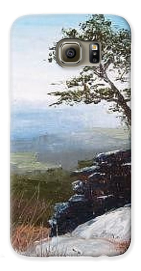 Landscape / Nature / Blue Ridge Mountains Galaxy S6 Case featuring the painting View From Pilot Mountain by Tami Booher