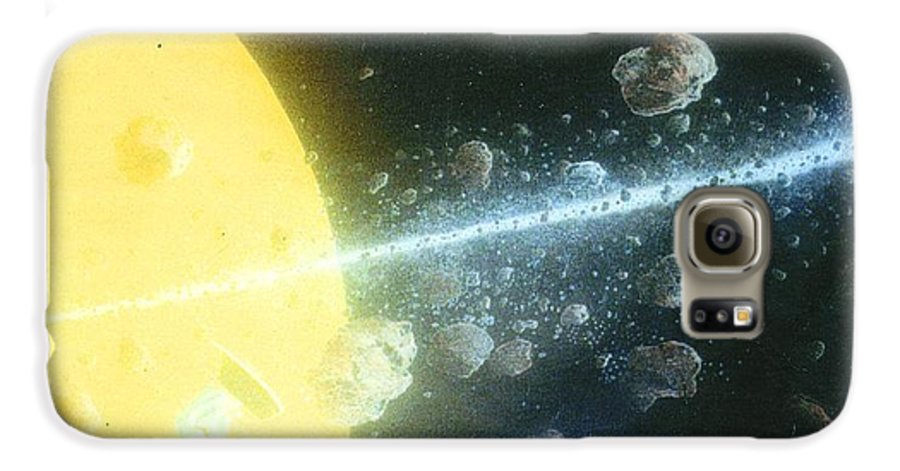 Spacescape Galaxy S6 Case featuring the painting View Master by A Robert Malcom