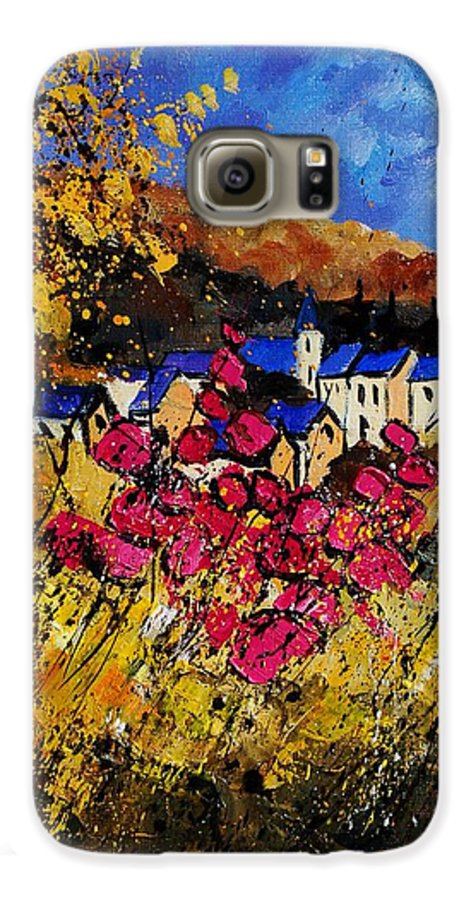 Flowers Galaxy S6 Case featuring the painting Village 450808 by Pol Ledent