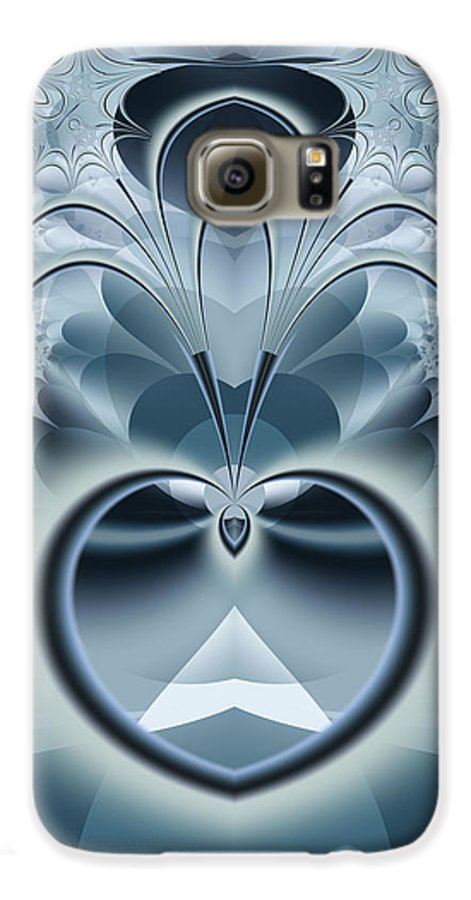Fractal Galaxy S6 Case featuring the digital art Vision by Frederic Durville