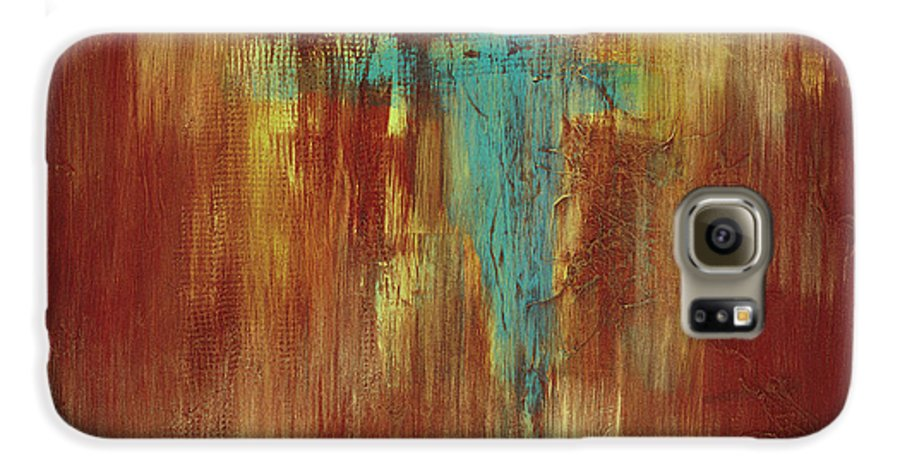 Abstract Galaxy S6 Case featuring the painting Vision Quest by Tara Moorman