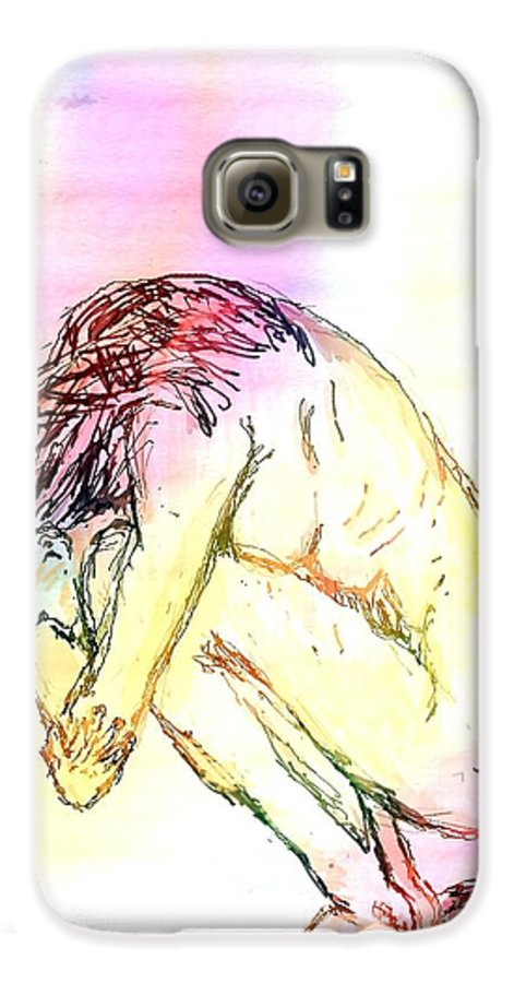 Lady Galaxy S6 Case featuring the digital art Waiting For The Wounds To Heal by Shelley Jones