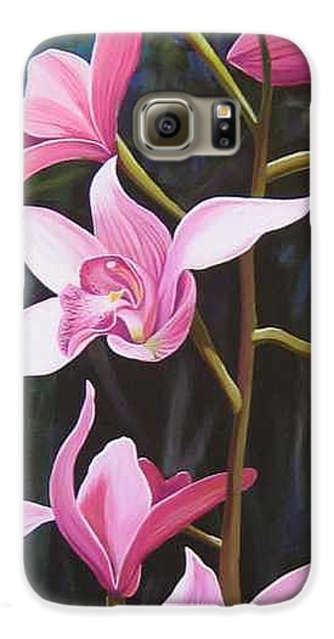 Orchids In Italy Galaxy S6 Case featuring the painting Waking Up In The Sun by Hunter Jay