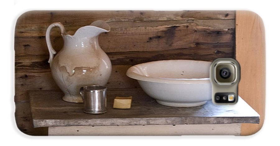 Wash Galaxy S6 Case featuring the photograph Wash Bowl Pitcher And Cup by Douglas Barnett