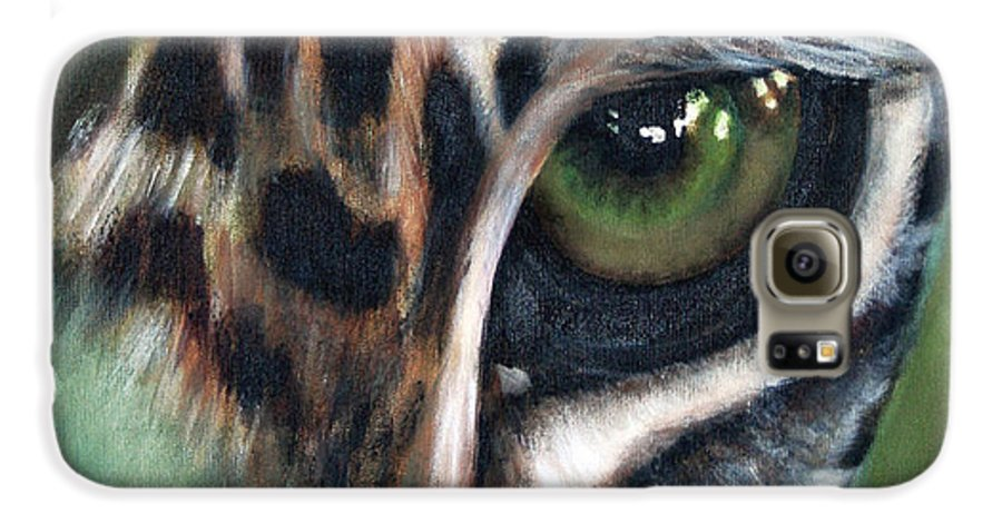 Animals Galaxy S6 Case featuring the painting Watching You Watching Me by Fiona Jack