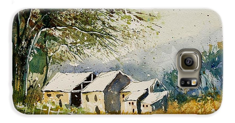 Landscape Galaxy S6 Case featuring the painting Watercolor 010708 by Pol Ledent