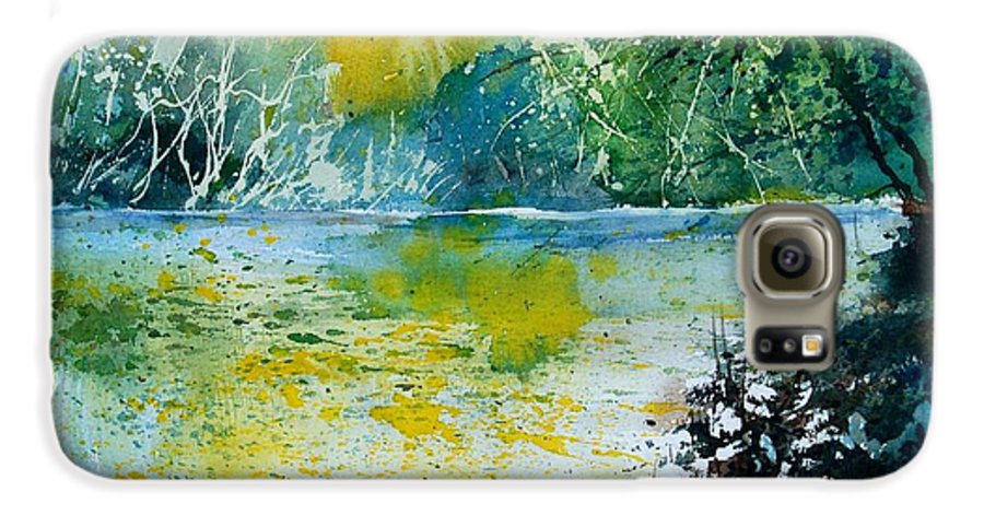 Pond Galaxy S6 Case featuring the painting Watercolor 051108 by Pol Ledent