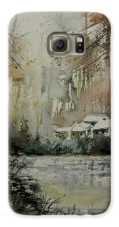 Landscape Galaxy S6 Case featuring the painting Watercolor 070608 by Pol Ledent