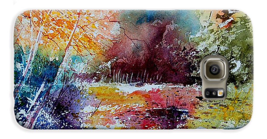 Pond Galaxy S6 Case featuring the painting Watercolor 140908 by Pol Ledent