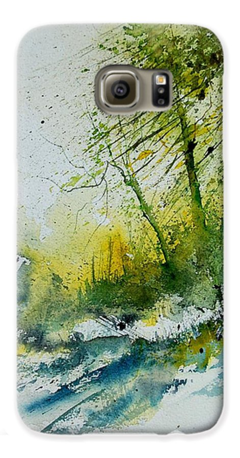 River Galaxy S6 Case featuring the painting Watercolor 181207 by Pol Ledent