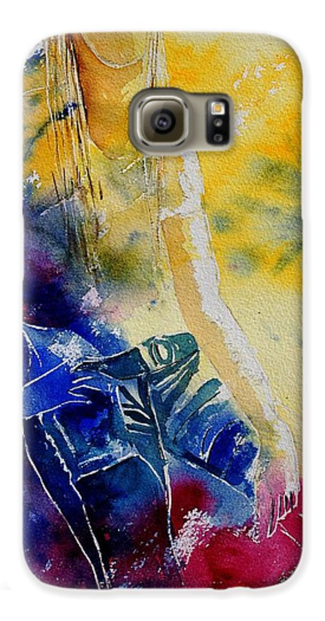Girl Nude Galaxy S6 Case featuring the painting Watercolor 21546 by Pol Ledent