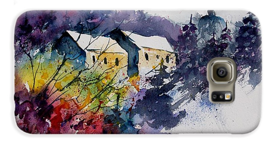 River Galaxy S6 Case featuring the painting Watercolor 231207 by Pol Ledent