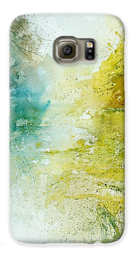 Pond Nature Landscape Galaxy S6 Case featuring the painting Watercolor 24465 by Pol Ledent