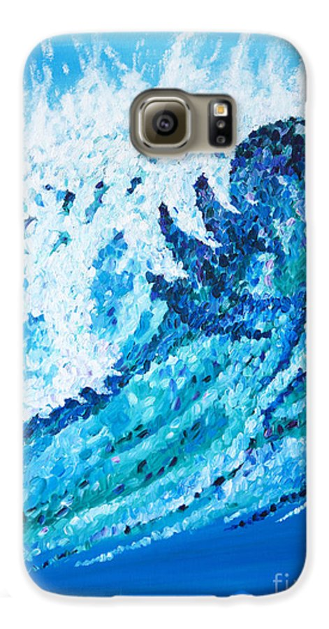Ocean Galaxy S6 Case featuring the painting Watercolor by JoAnn DePolo