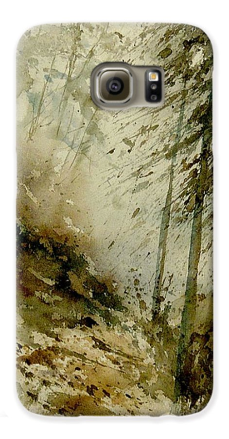 Landscape Galaxy S6 Case featuring the painting Watercolor Misty Atmosphere by Pol Ledent