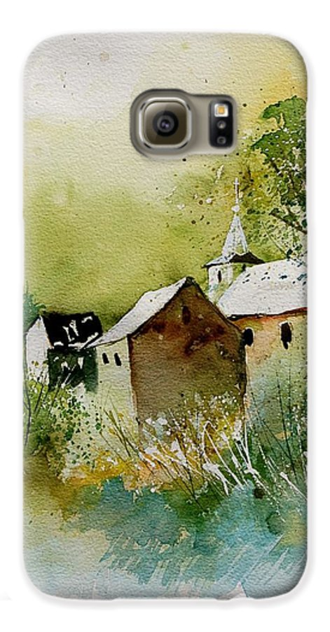 Landscape Galaxy S6 Case featuring the painting Watercolor Sosoye by Pol Ledent