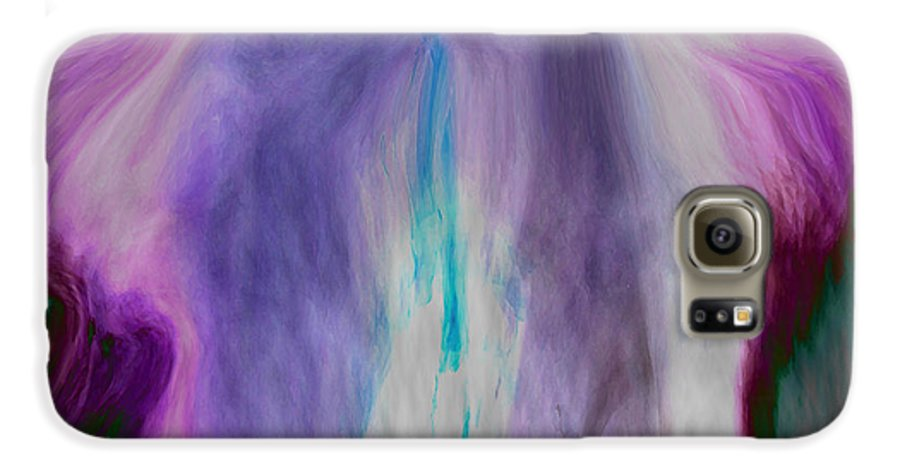 Abstract Art Galaxy S6 Case featuring the digital art Waterfall by Linda Sannuti