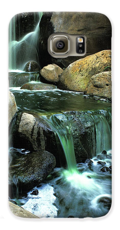 Water Galaxy S6 Case featuring the photograph Waterfall On Maui by Carl Purcell