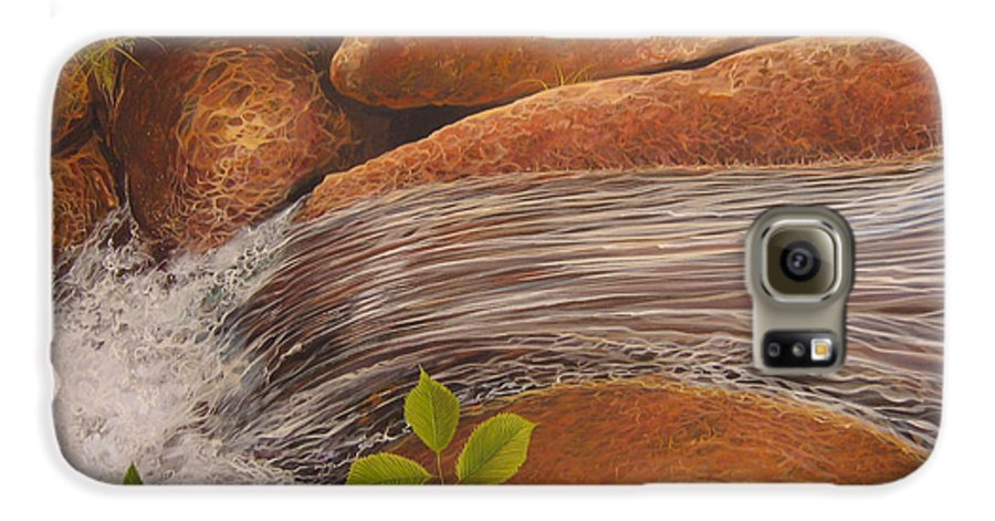 Water Galaxy S6 Case featuring the painting Water's Edge by Hunter Jay
