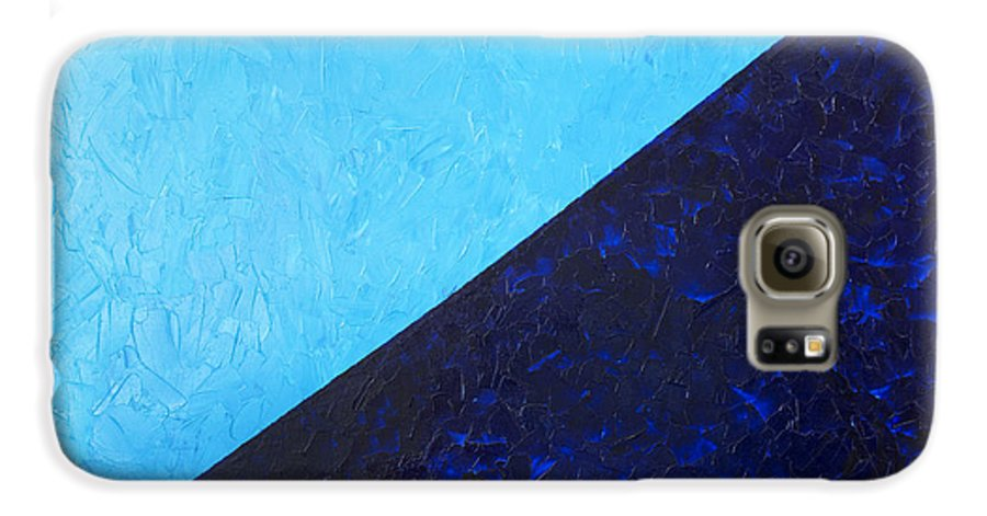 Impasto Galaxy S6 Case featuring the painting Water's Edge by JoAnn DePolo