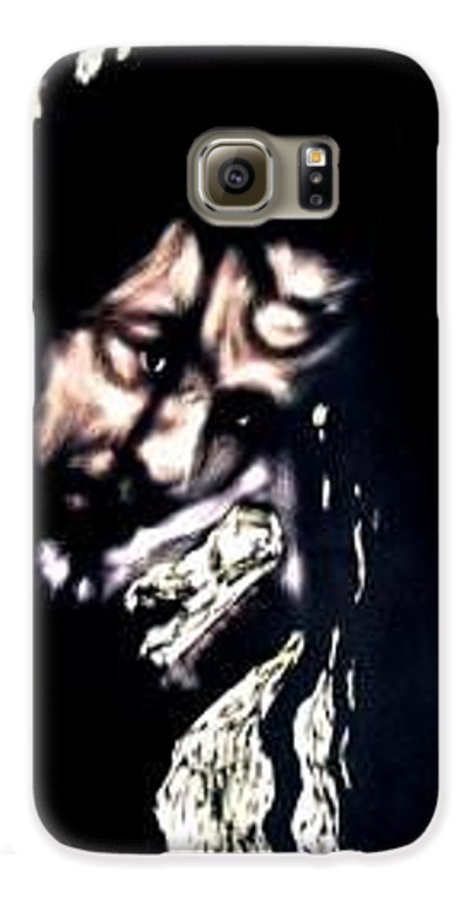 Portrait Galaxy S6 Case featuring the mixed media Wear My Crown Down by Chester Elmore