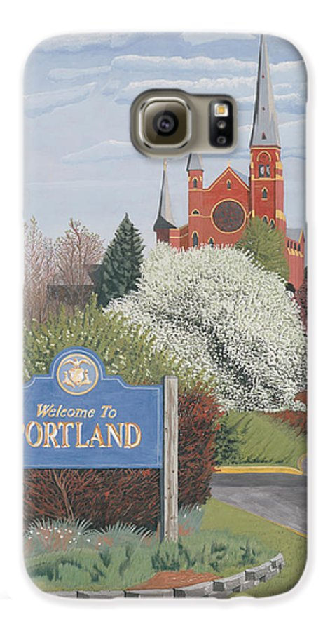 Church Galaxy S6 Case featuring the painting Welcome To Portland by Dominic White