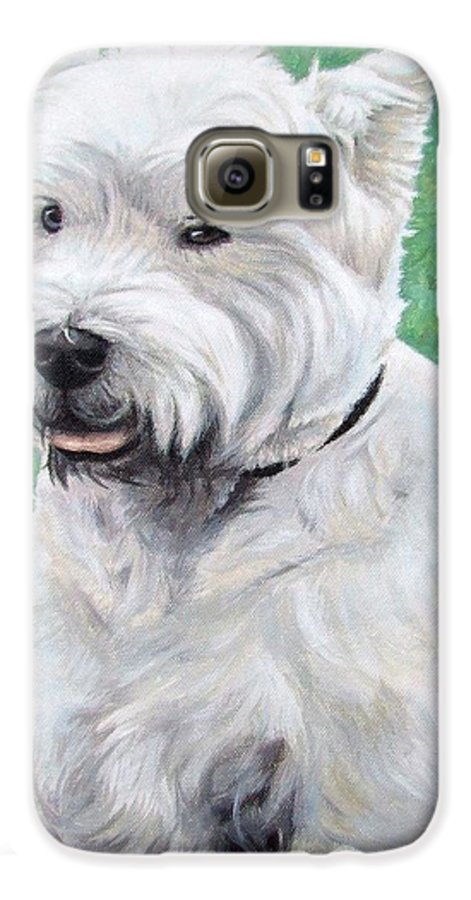 Dog Galaxy S6 Case featuring the painting West Highland Terrier by Nicole Zeug