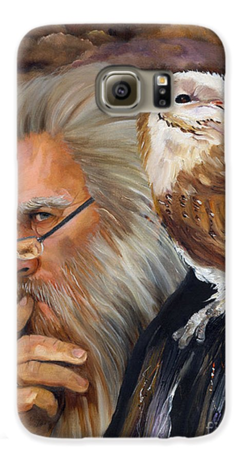 Wizard Galaxy S6 Case featuring the painting What If... by J W Baker