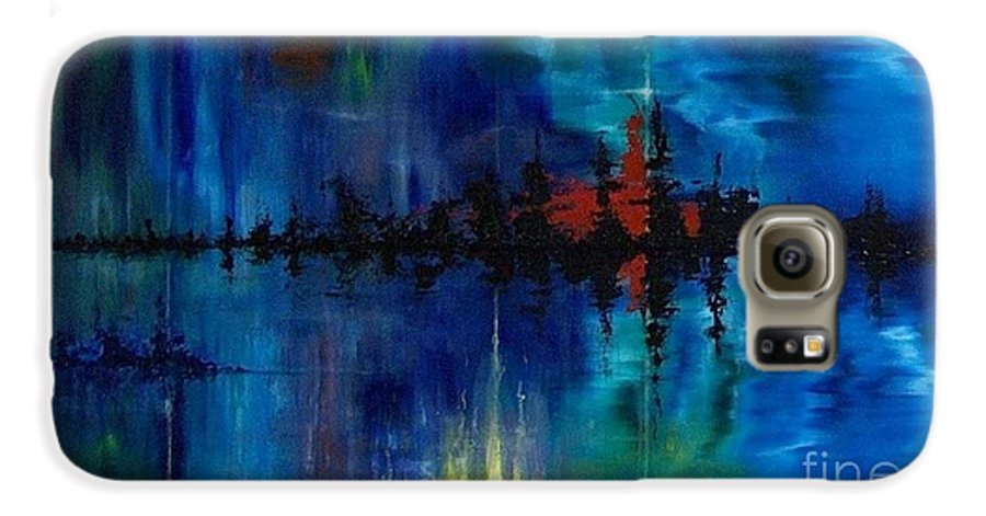 Non Objective Galaxy S6 Case featuring the painting What Lies Beneath by M J Venrick