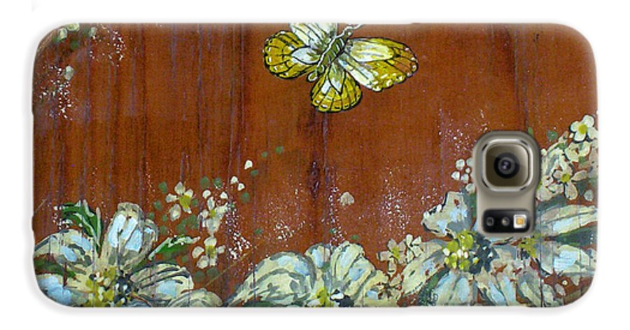 Wildflowers Galaxy S6 Case featuring the painting Wheat 'n' Wildflowers IIi by Phyllis Mae Richardson Fisher