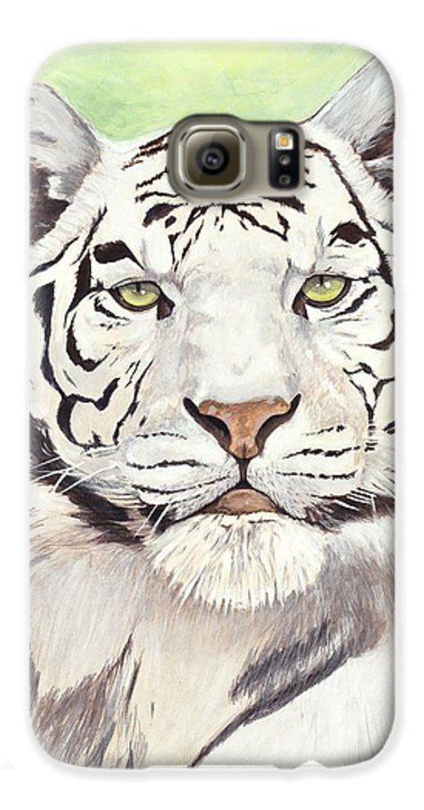 Tiger Galaxy S6 Case featuring the painting White Silence by Shawn Stallings