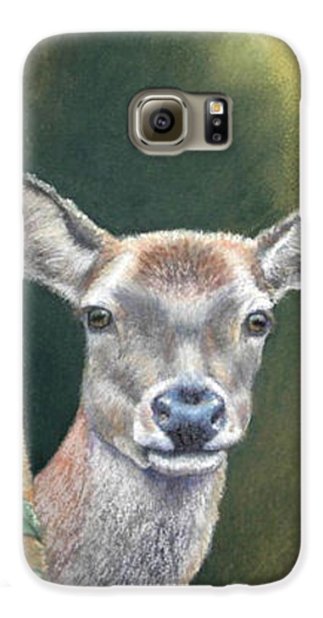 Rainforest Galaxy S6 Case featuring the painting White Tail Doe At Ancon Hill by Ceci Watson