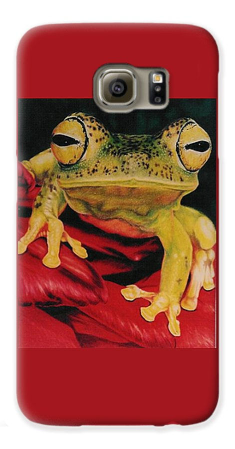 Art Galaxy S6 Case featuring the drawing Who Loves Ya by Barbara Keith