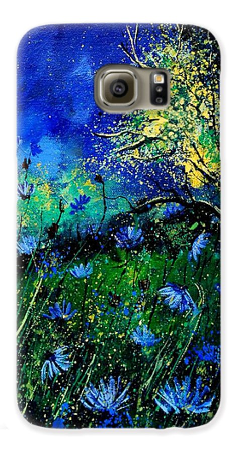 Poppies Galaxy S6 Case featuring the painting Wild Chocoree by Pol Ledent