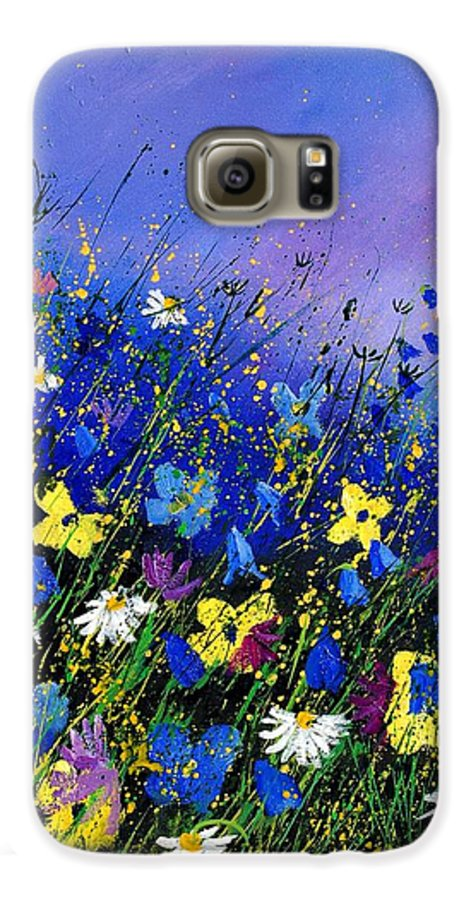 Flowers Galaxy S6 Case featuring the painting Wild Flowers 560908 by Pol Ledent