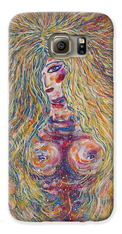 Nude Galaxy S6 Case featuring the painting Wild Passion by Natalie Holland