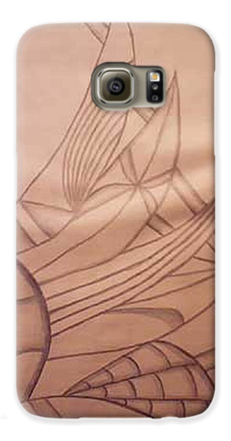 Abstract Galaxy S6 Case featuring the drawing Wild Vines by Natalee Parochka