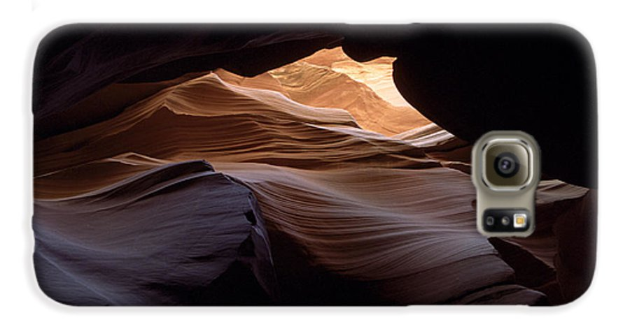Antelope Canyon Galaxy S6 Case featuring the photograph Wind And Water by Kathy McClure