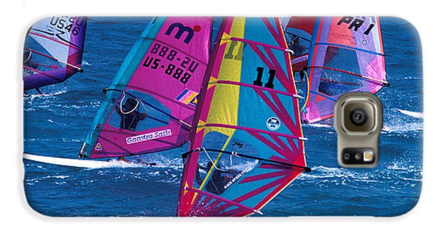 Wind Galaxy S6 Case featuring the photograph Wind Surfers In Nassau by Carl Purcell