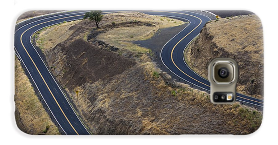 Road Galaxy S6 Case featuring the photograph Winding Road by Idaho Scenic Images Linda Lantzy