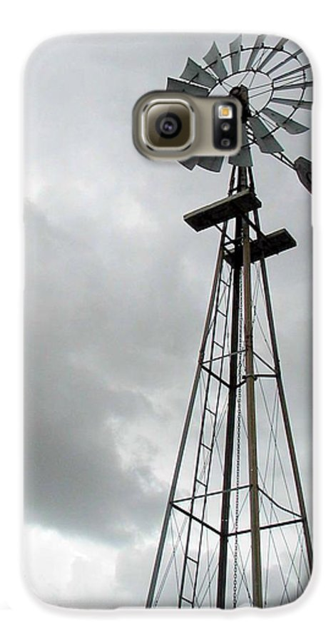 Windmill Galaxy S6 Case featuring the photograph Windmill by Margaret Fortunato