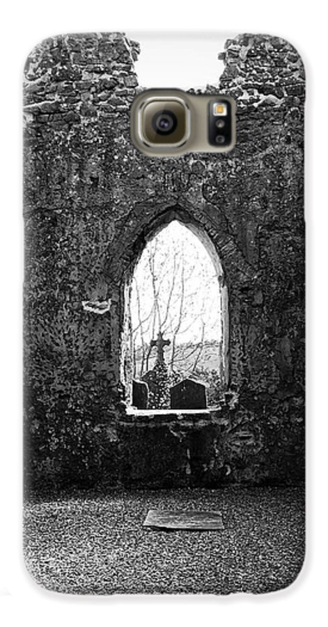 Ireland Galaxy S6 Case featuring the photograph Window At Fuerty Church Roscommon Ireland by Teresa Mucha