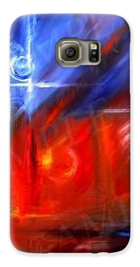 Abstracts Galaxy S6 Case featuring the painting Windows by James Christopher Hill