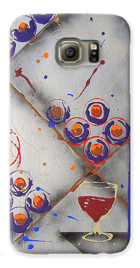 Wine Galaxy S6 Case featuring the painting Wine Connoisseur by J R Seymour